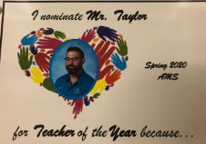 Students Nominate Teachers for Teacher of the Year